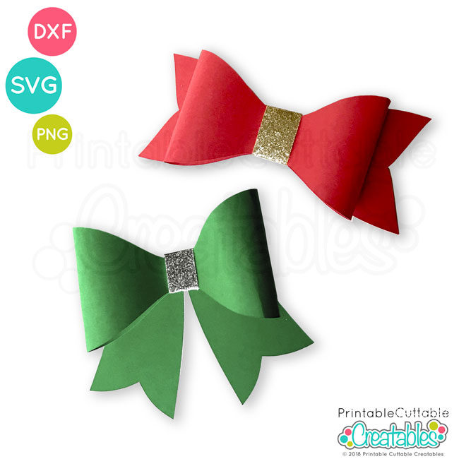 Download Free 3D Bow SVG File Template for Silhouette & Cricut