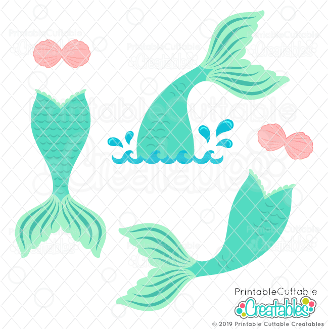 Download Mermaid Tail SVG Files- Mermaid SVG Files for Cricut ...