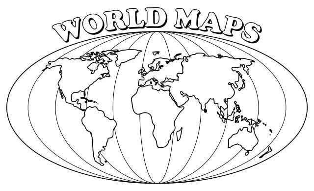 20 Best Simple World Map Printable - printablee.com