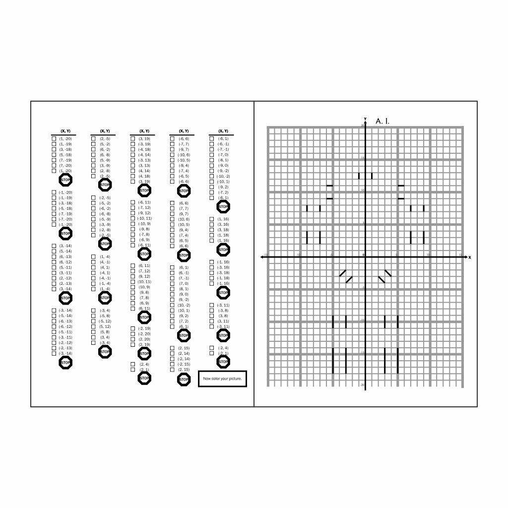 Graph Art Worksheets Printable
