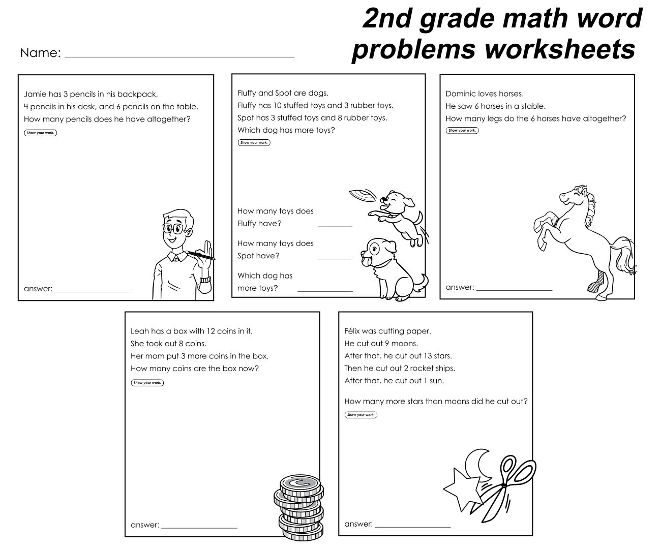7 Best Images Of 2nd Grade Story Problems Printable