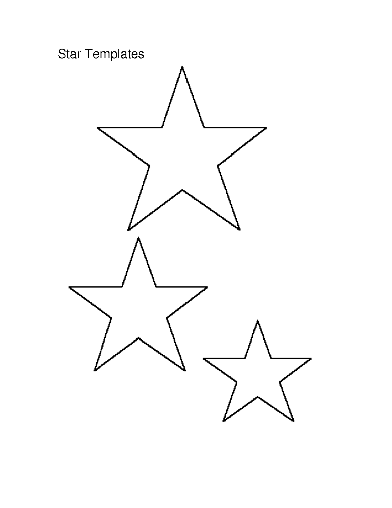 5 Best Images Of Medium Printable Star Stencil