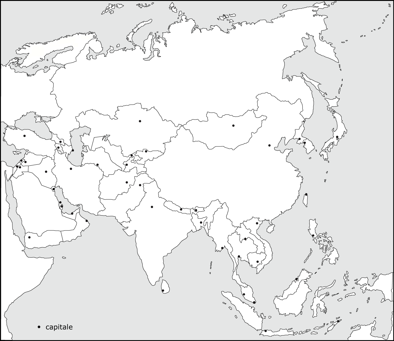 8 Best Images Of Printable Blank Map Of Asia