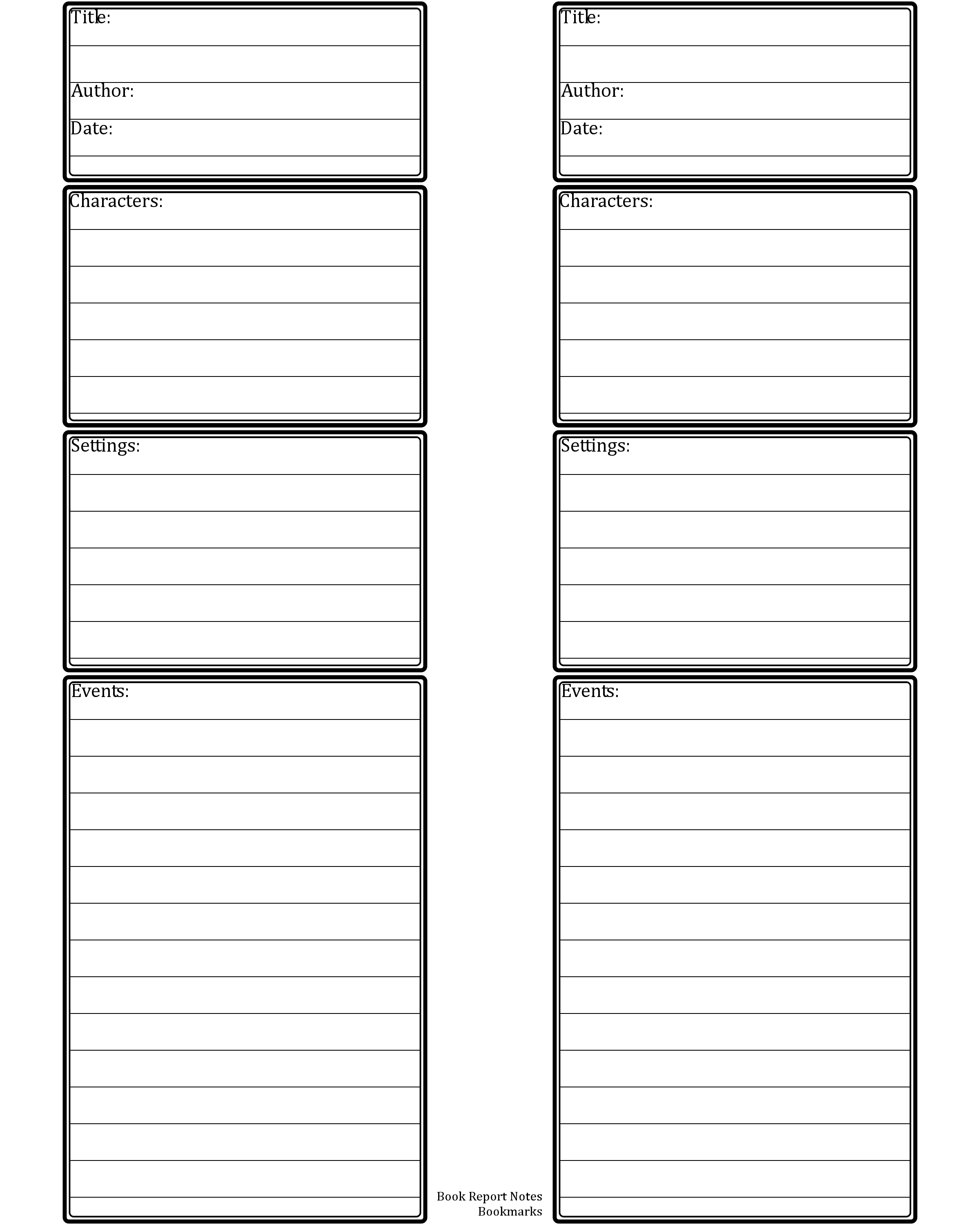 Printable Research Paper Outline Template