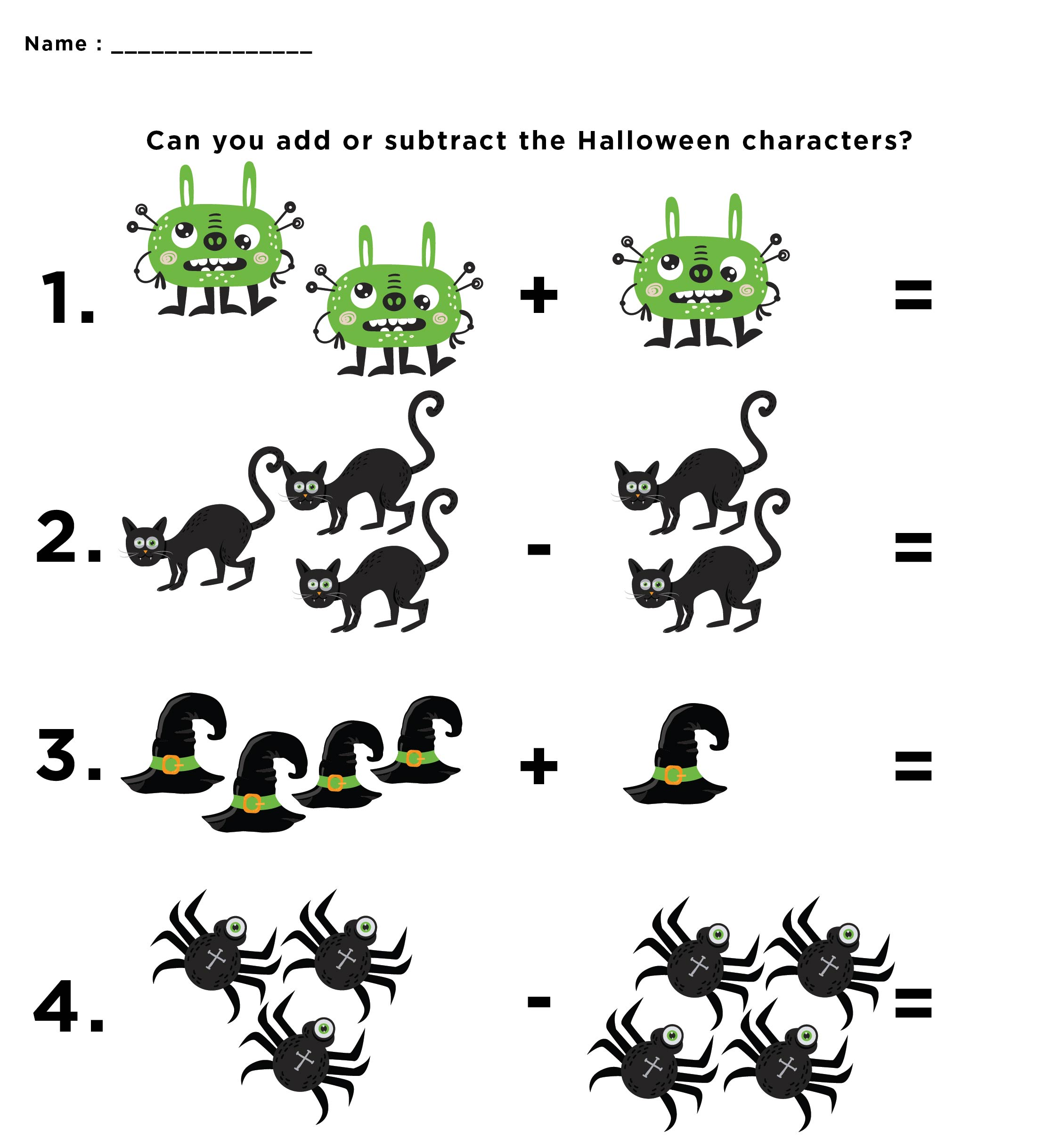 6 Best Images Of Free Printable Halloween Math Activities