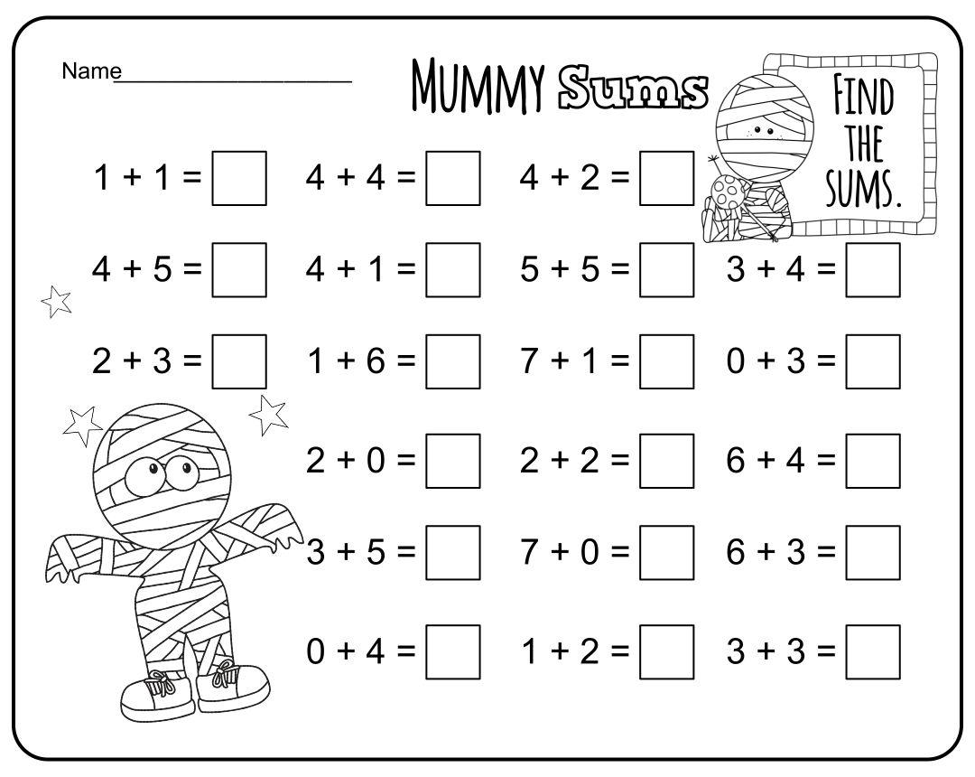 6 Best Free Printable Halloween Math Activities