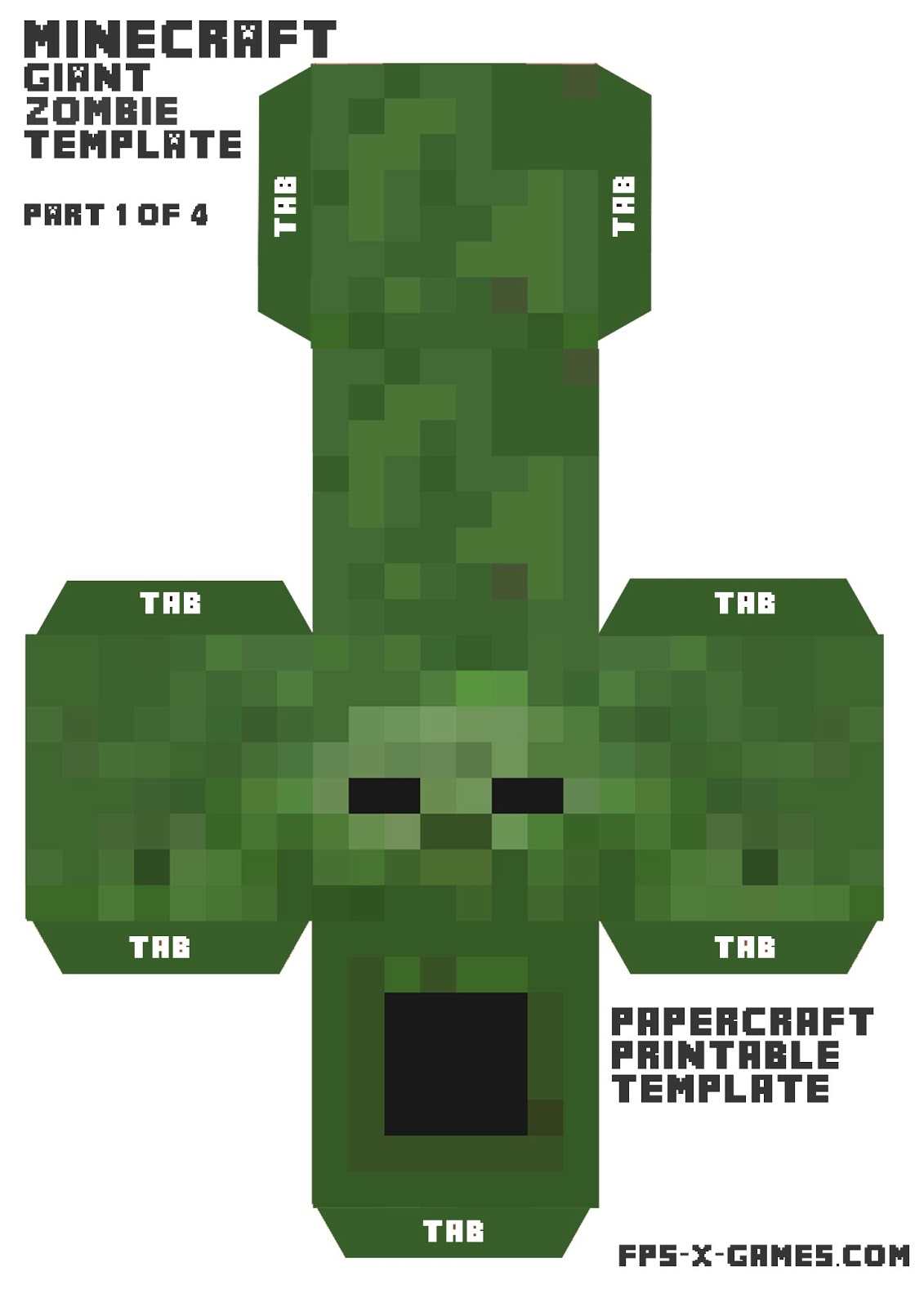 8 Best Images Of Minecraft Papercraft Template Printables