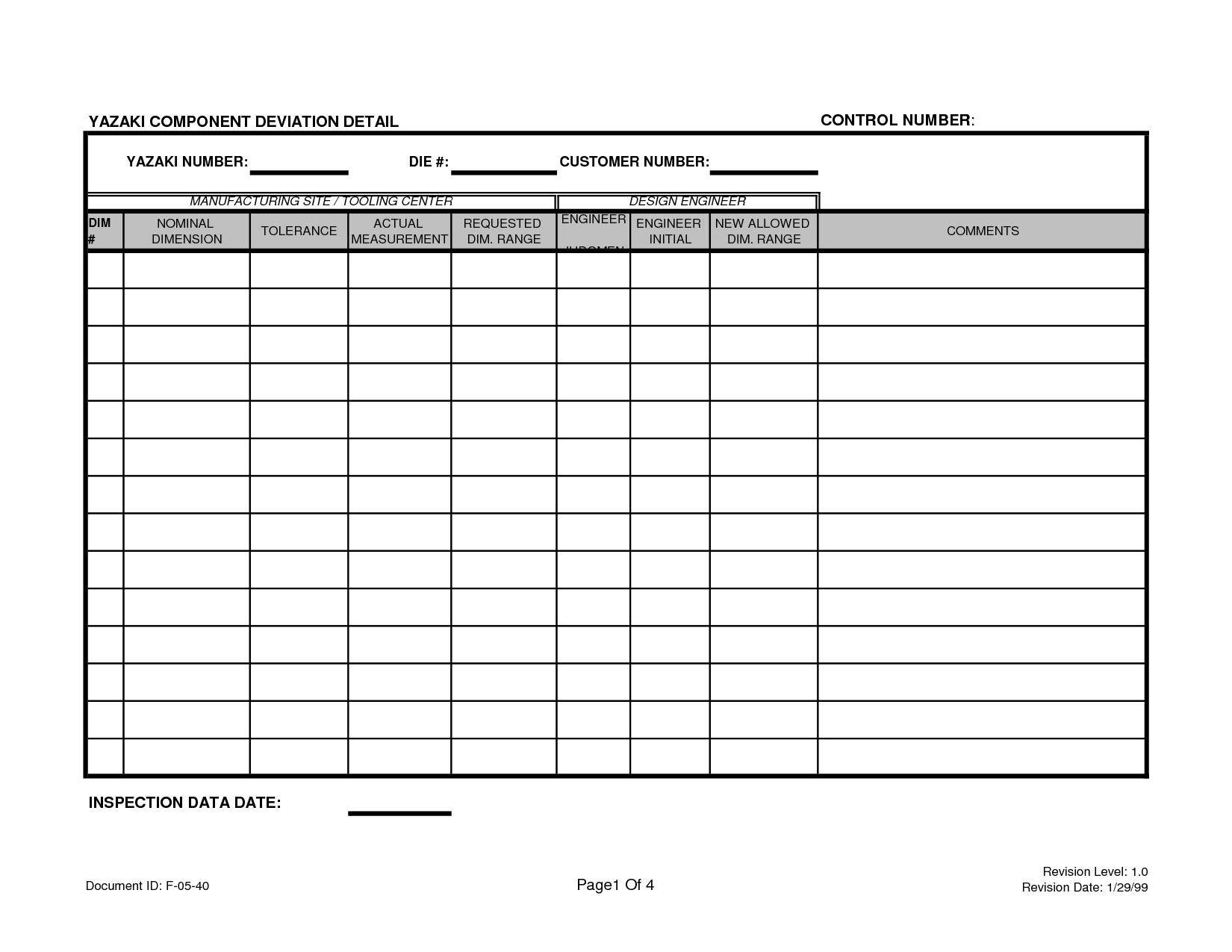 6 Best Images Of Free Printable Blank Excel Spreadsheet