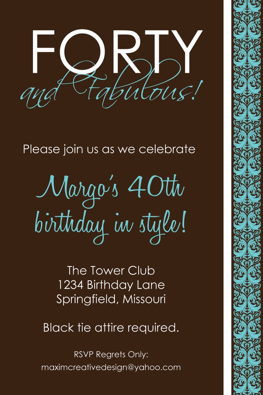 3 Outstanding Surprise 40th Birthday Invitations Wording