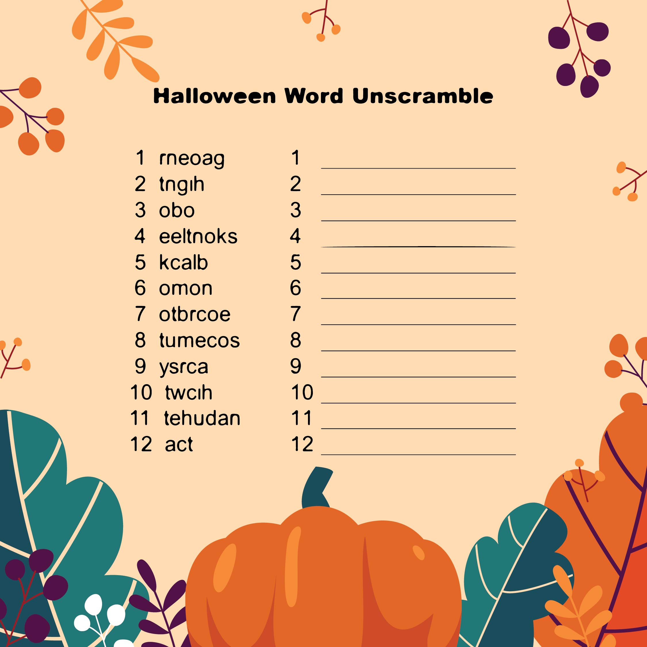 5 Best Images Of Printable Thanksgiving Word Scramble Game