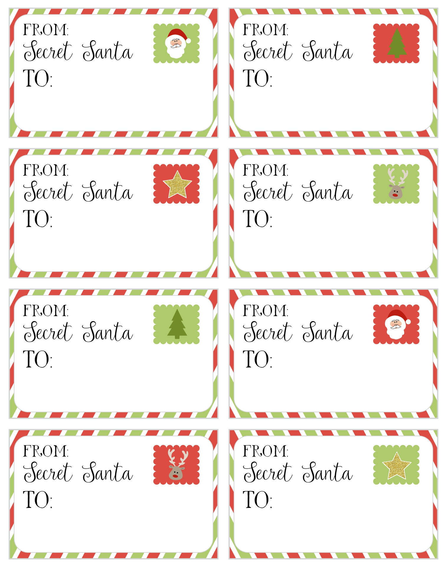 Secret Santa Code Worksheet