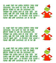 6 Best Images Of Grinch Dust Free Printable Free