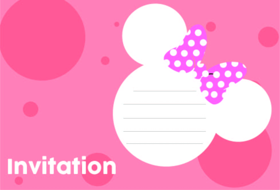 8 best minnie mouse printable template