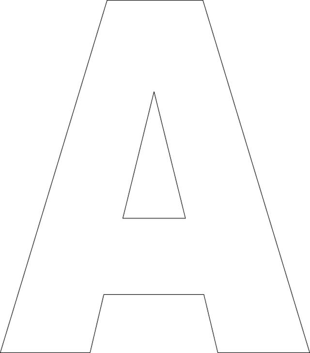 Large Single Alphabet Letters Print