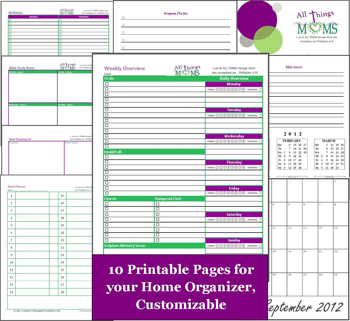 6 Best Images Of House Free Printable Organization