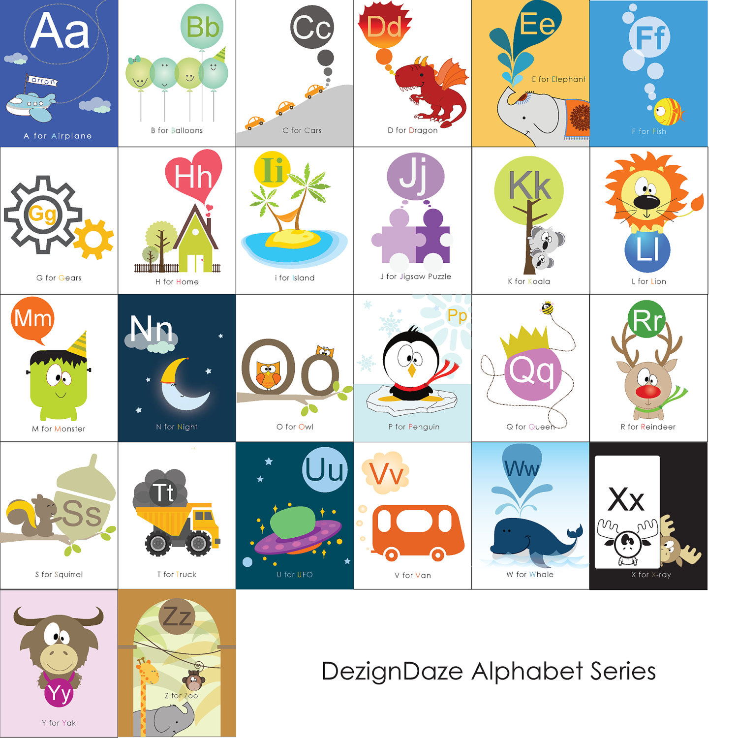 Alphabet Letters Flashcards Printable Free