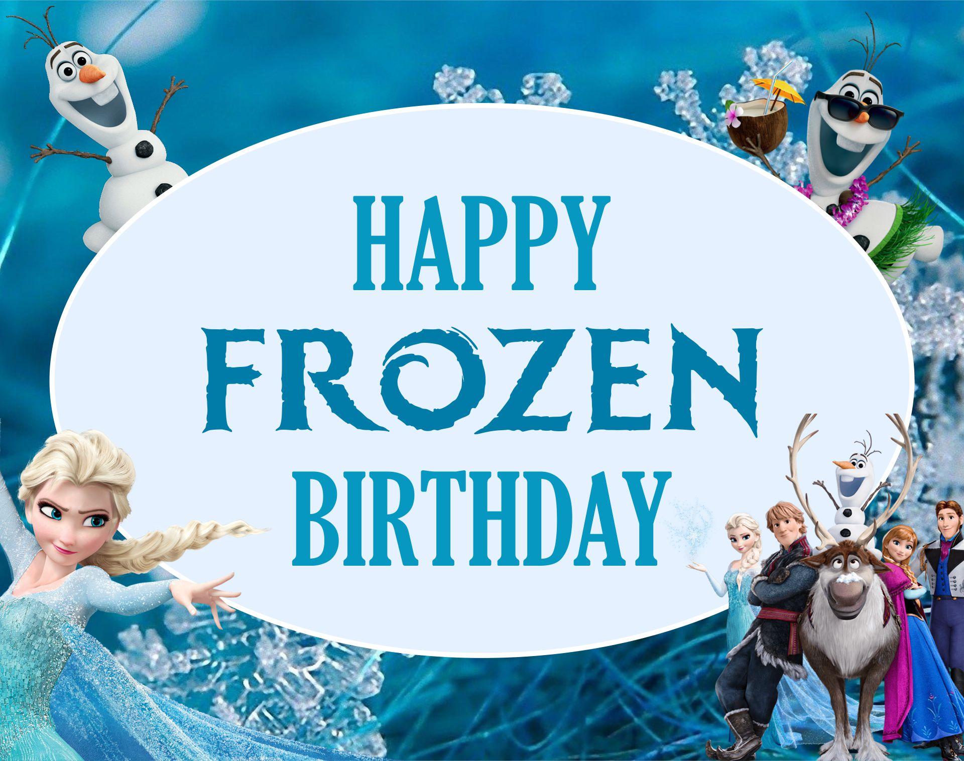 disney frozen printable birthday cards