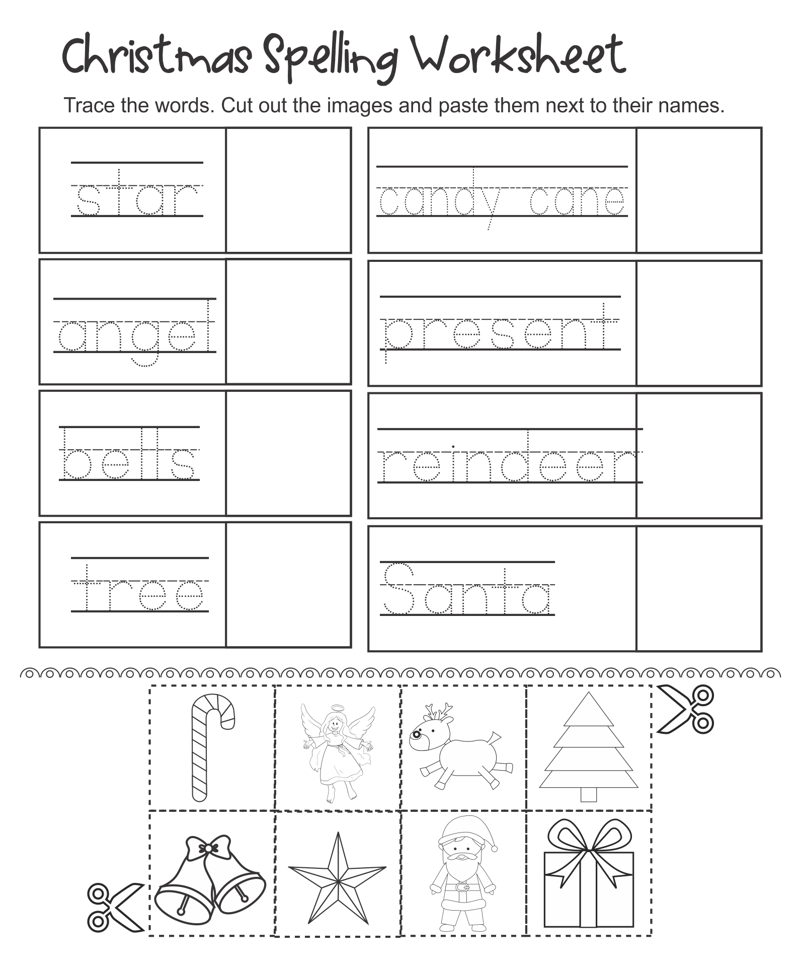7 Best Images Of Kindergarten Christmas Activities Free