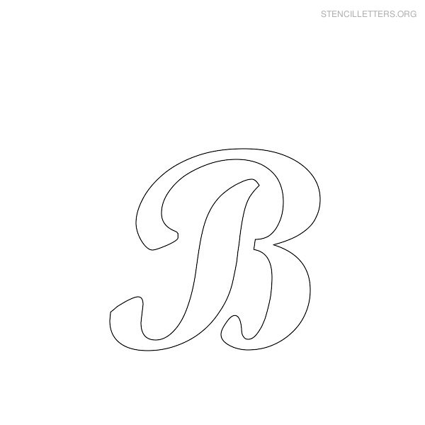 6 Best Images Of Printable Letter B Stencil Free