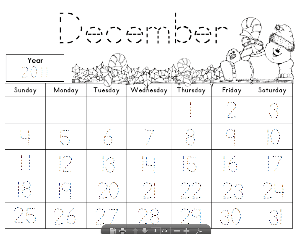 7 Best Images Of Kindergarten Printables Calendars