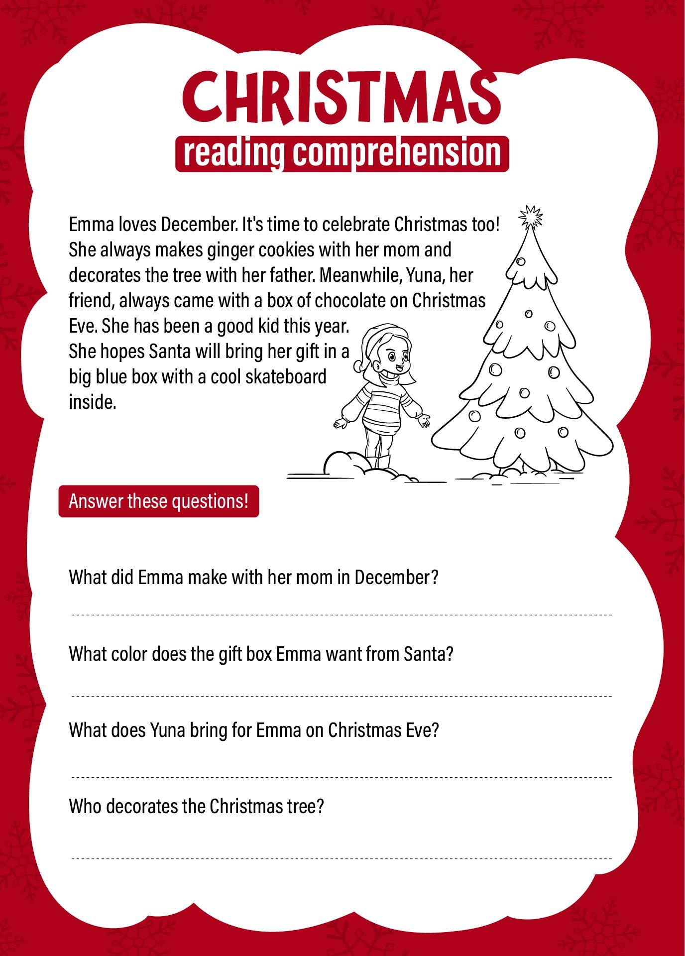 7 Best Images Of Kindergarten Christmas Activities Free