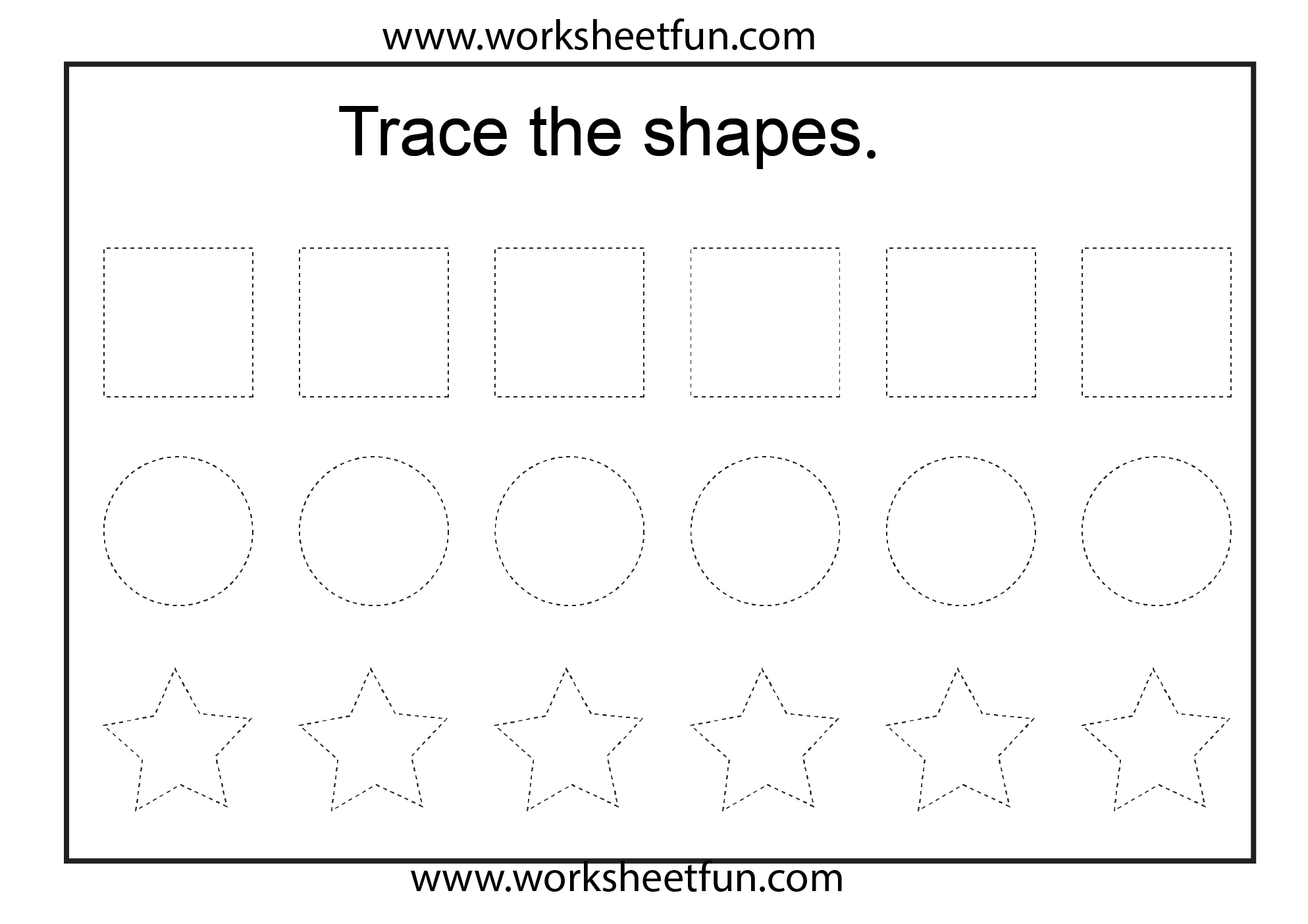 7 Best Images Of Traceable Shapes Square Preschool