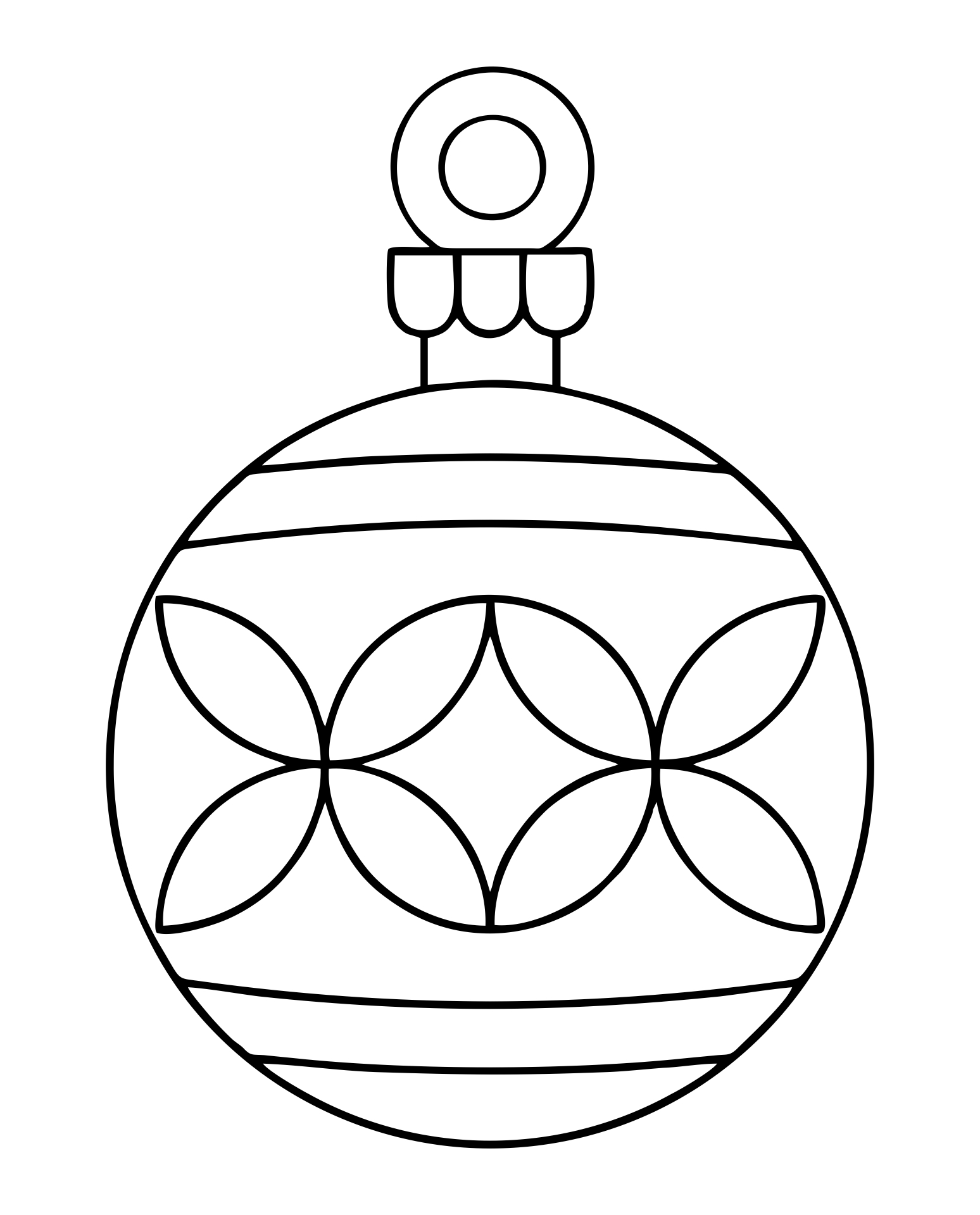 christmas bulb cut out template