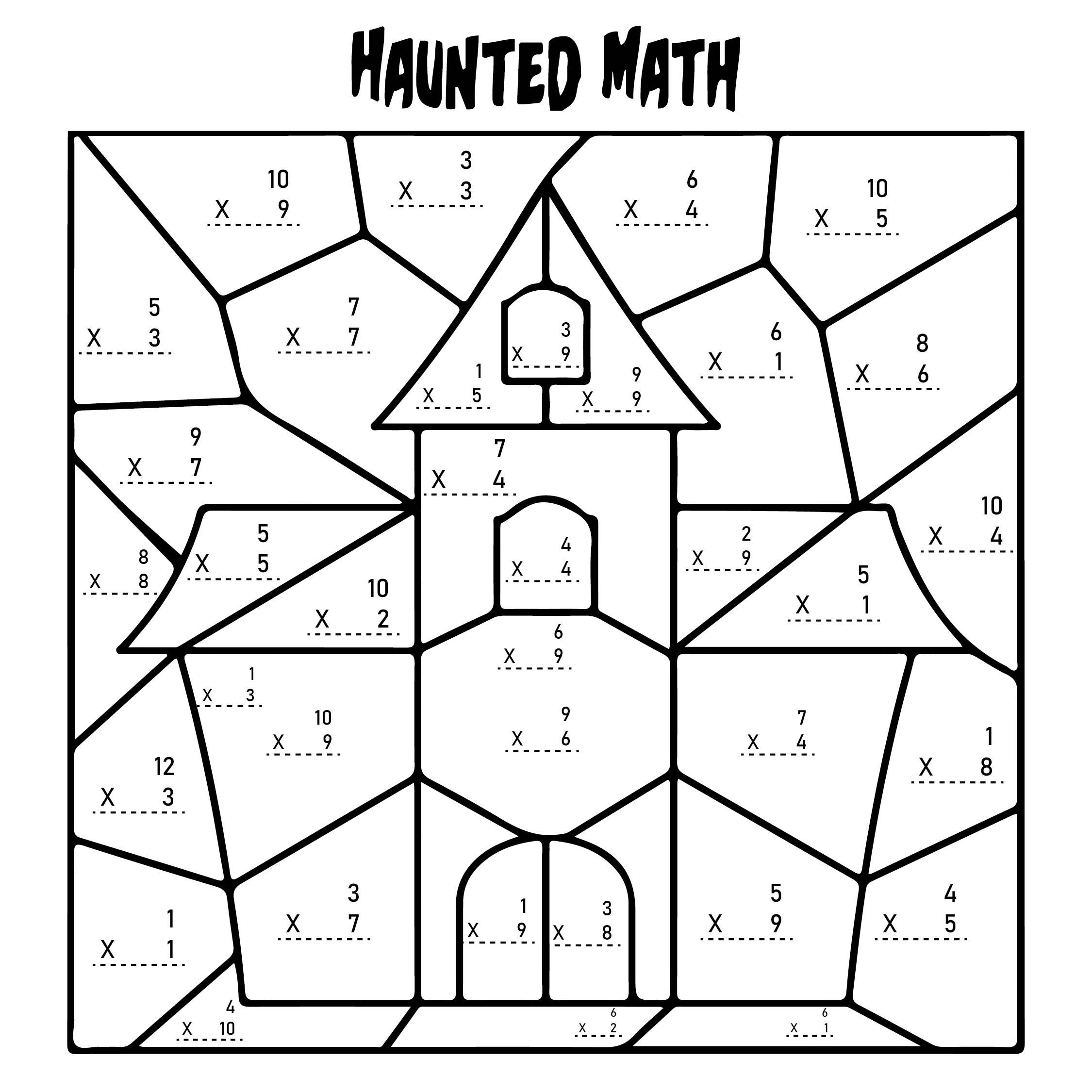 5 Best Multiplication Halloween Worksheets Printables