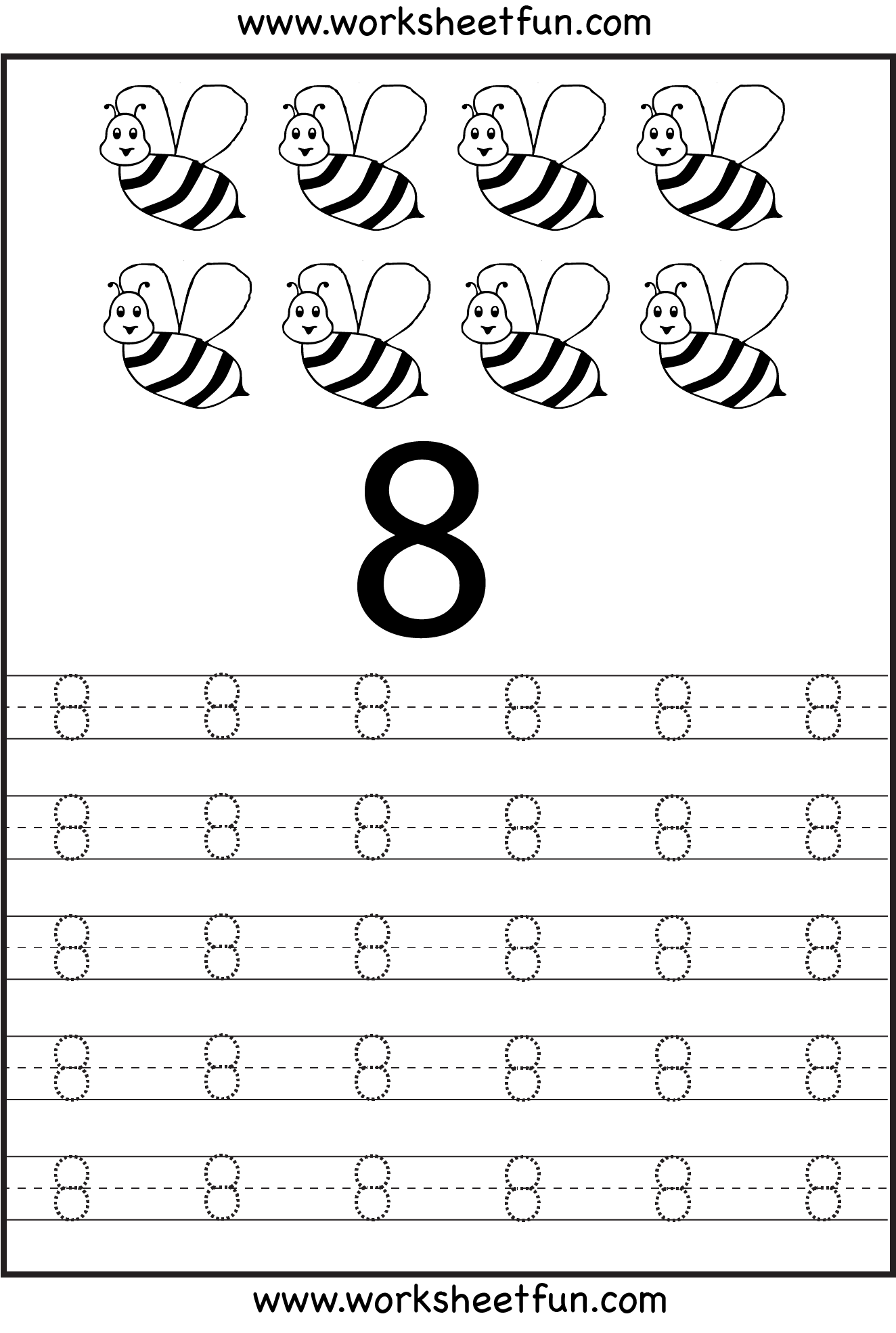 7 Best Images Of Printable Number 8 Worksheet
