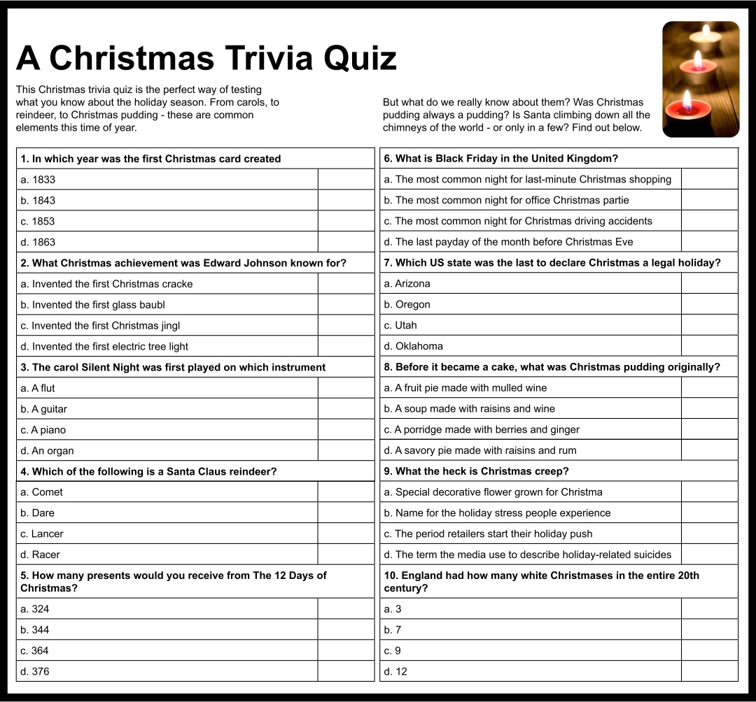 Free Adult Quizzes