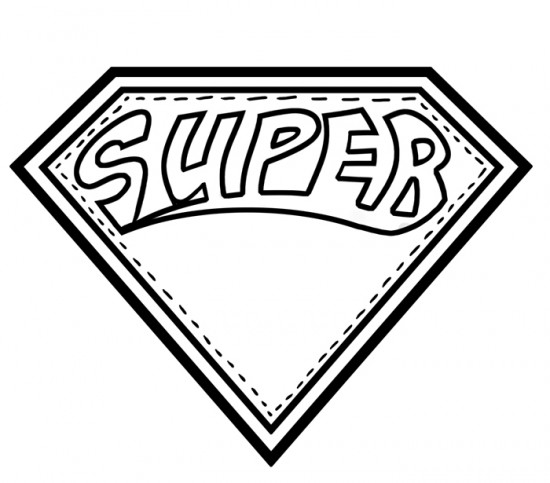 Superman Letter Template