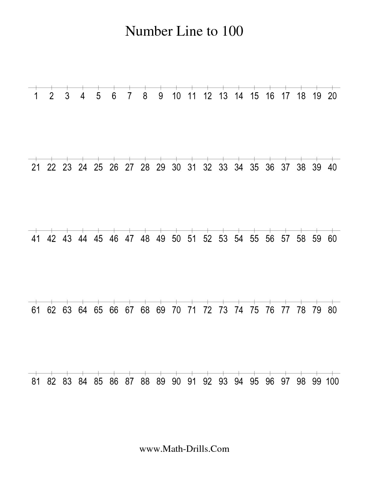 6 Best Images Of Printable Number Worksheets 1 100