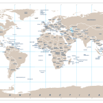 5 Best Printable World Map Without Labels Printablee Com