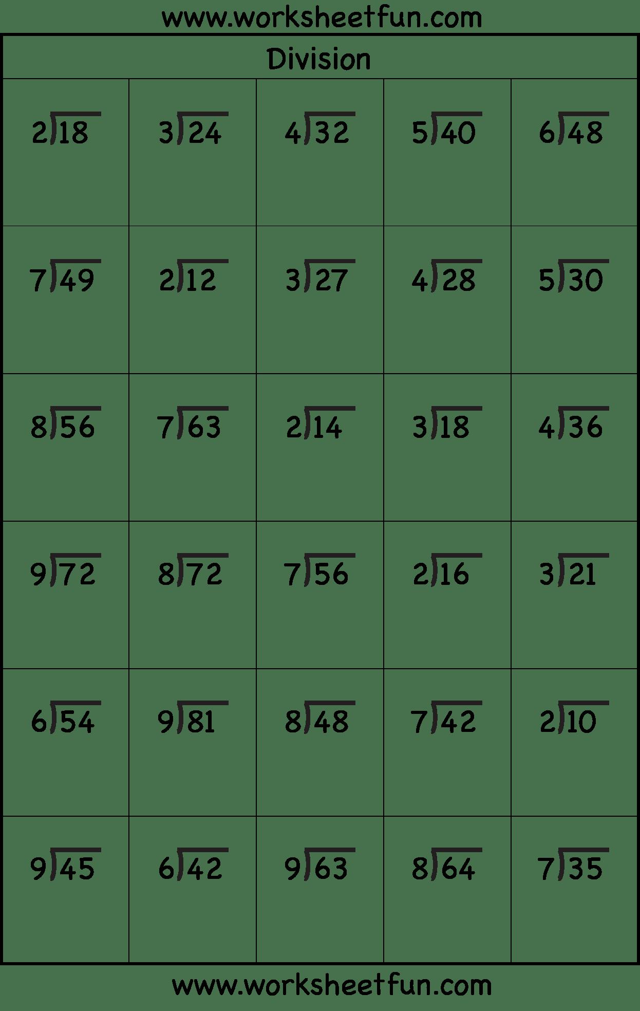 4 Best Images Of Printable Division Worksheets Grade 3
