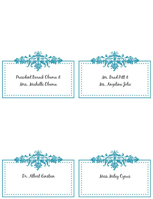 Design #3 Elegant Wedding Menu Template