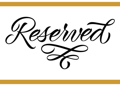Table Reservation Signs - Custom Design Plaque