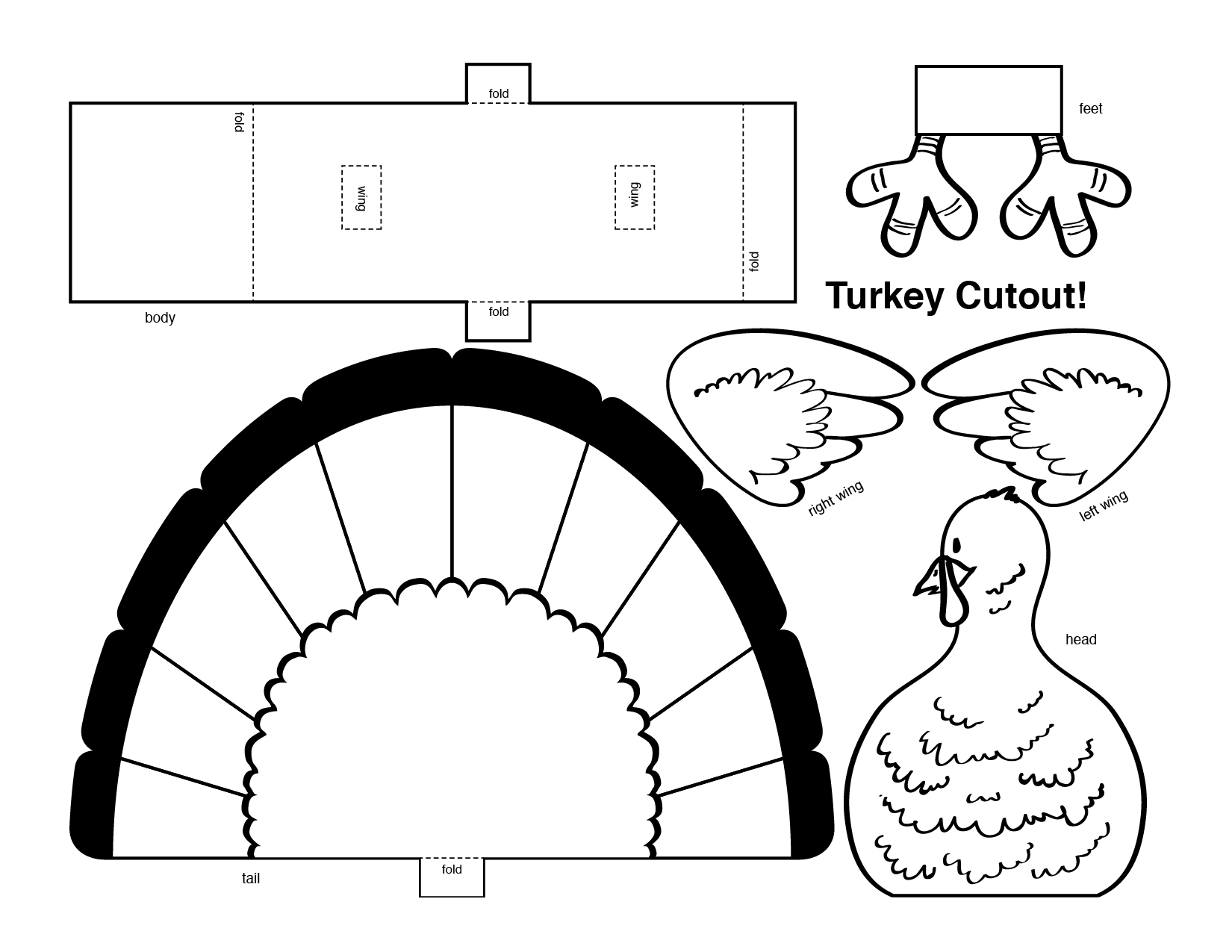 6 Best Images Of Turkey Cutouts Printable Free