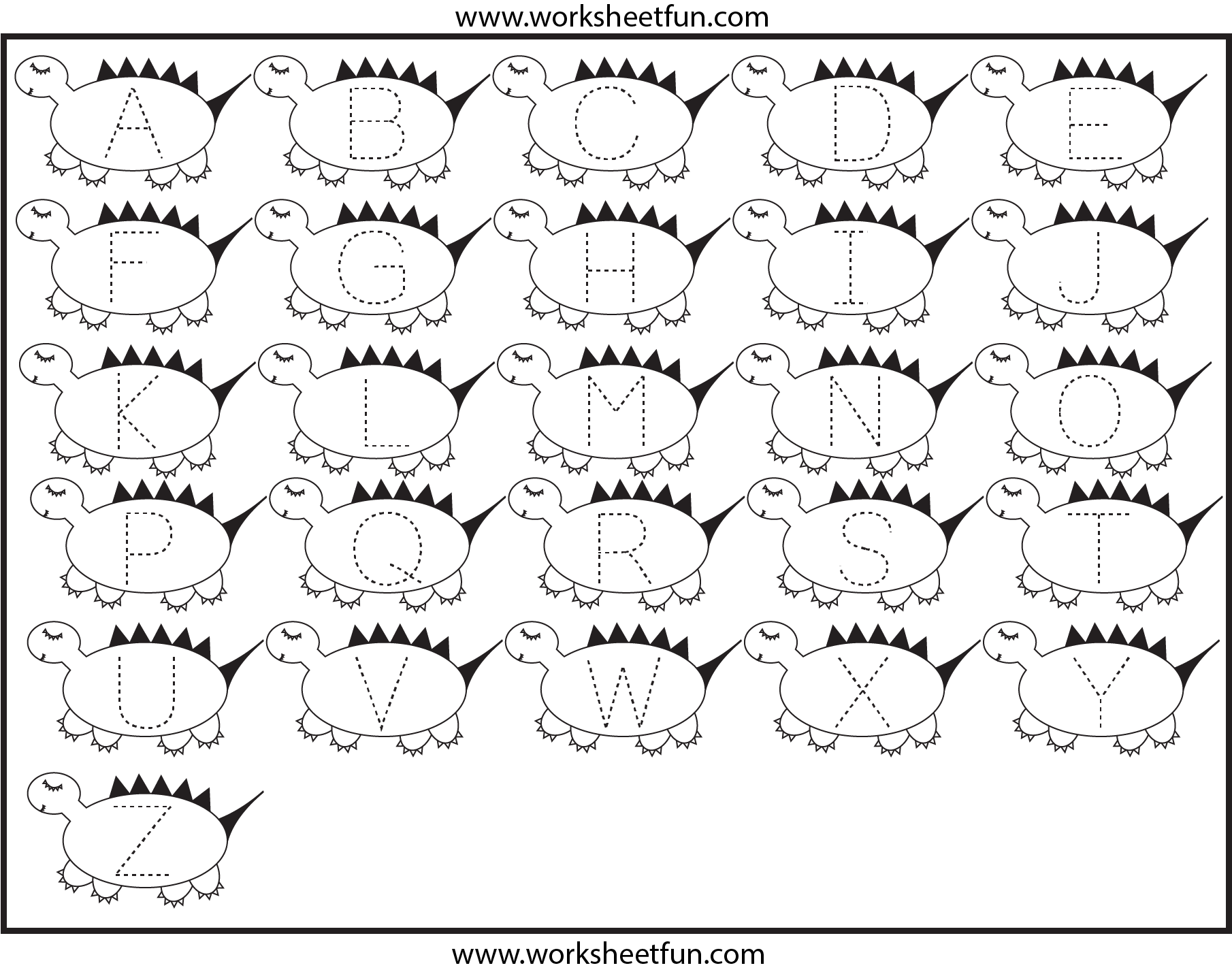 6 Best Images Of Dinosaur Alphabet Printables