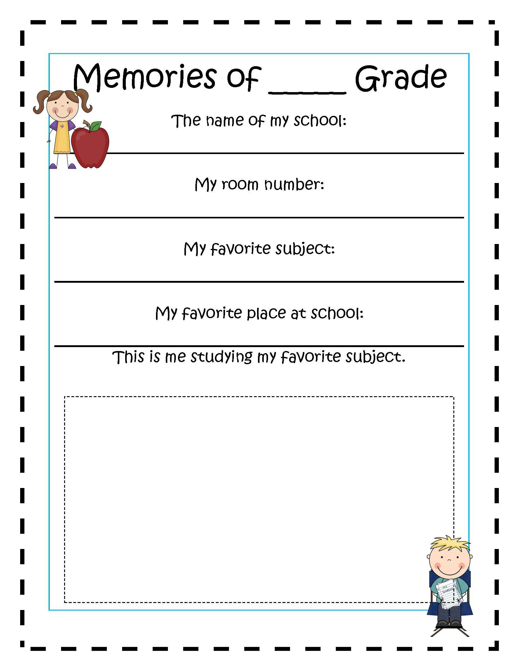 7 Best Images Of Memory Book Printables For Adults