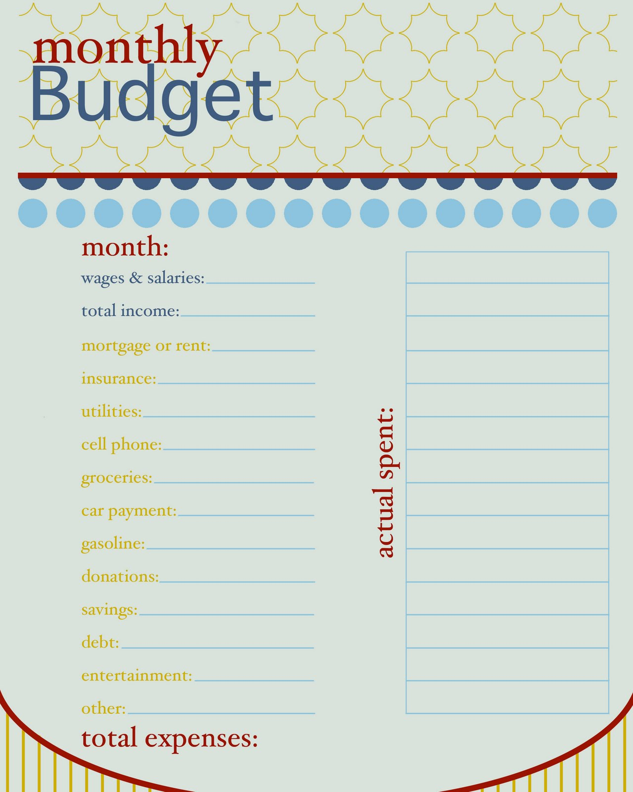 6 Best Images Of Free Printable Budget Worksheet