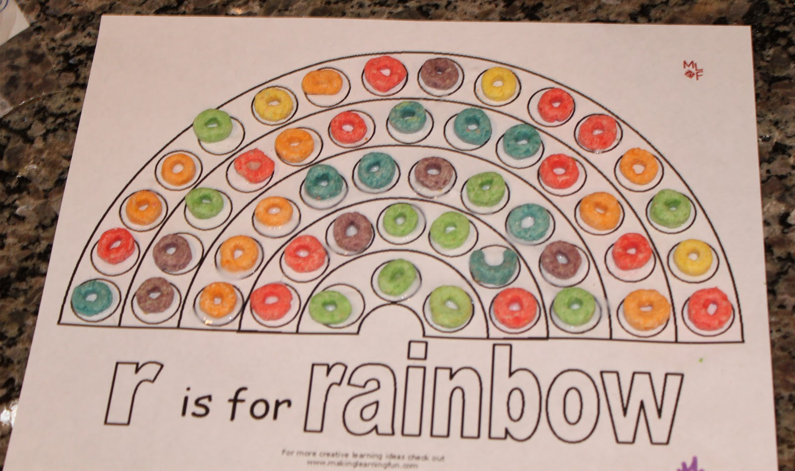 8 Best Images Of Rainbow Fruit Loops Printable Activity