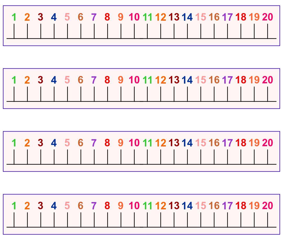 8 Best Kindergarten Number Line Printable 0 20