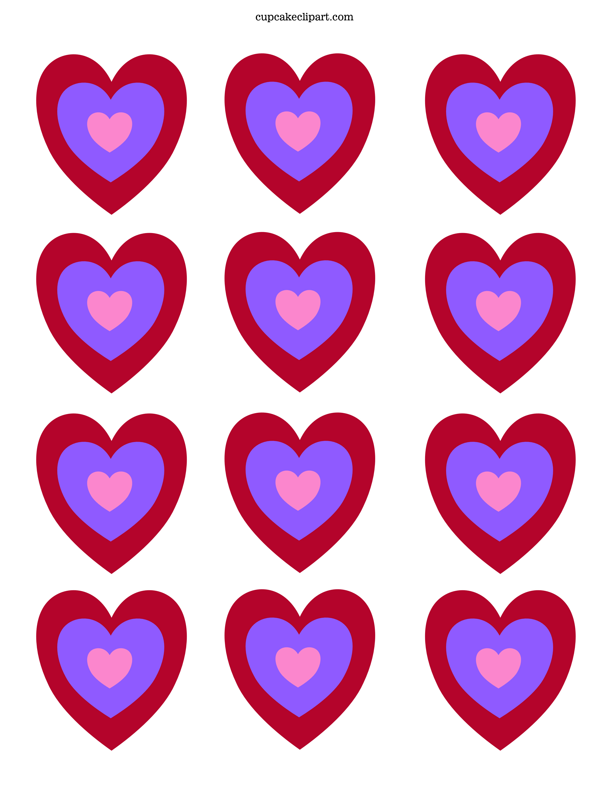 Hearts Valentine Day Printables Gallery
