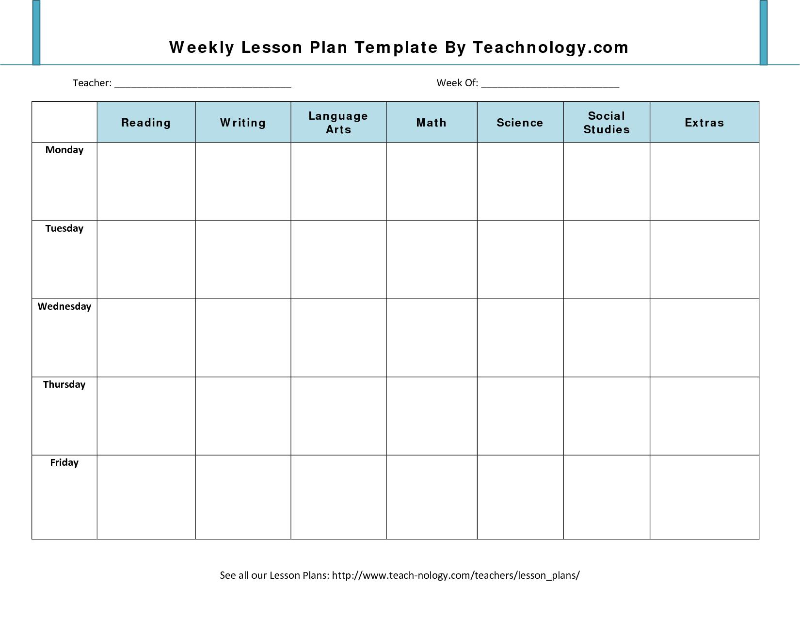 8 Best Images Of Printable Teacher Weekly Planner Template