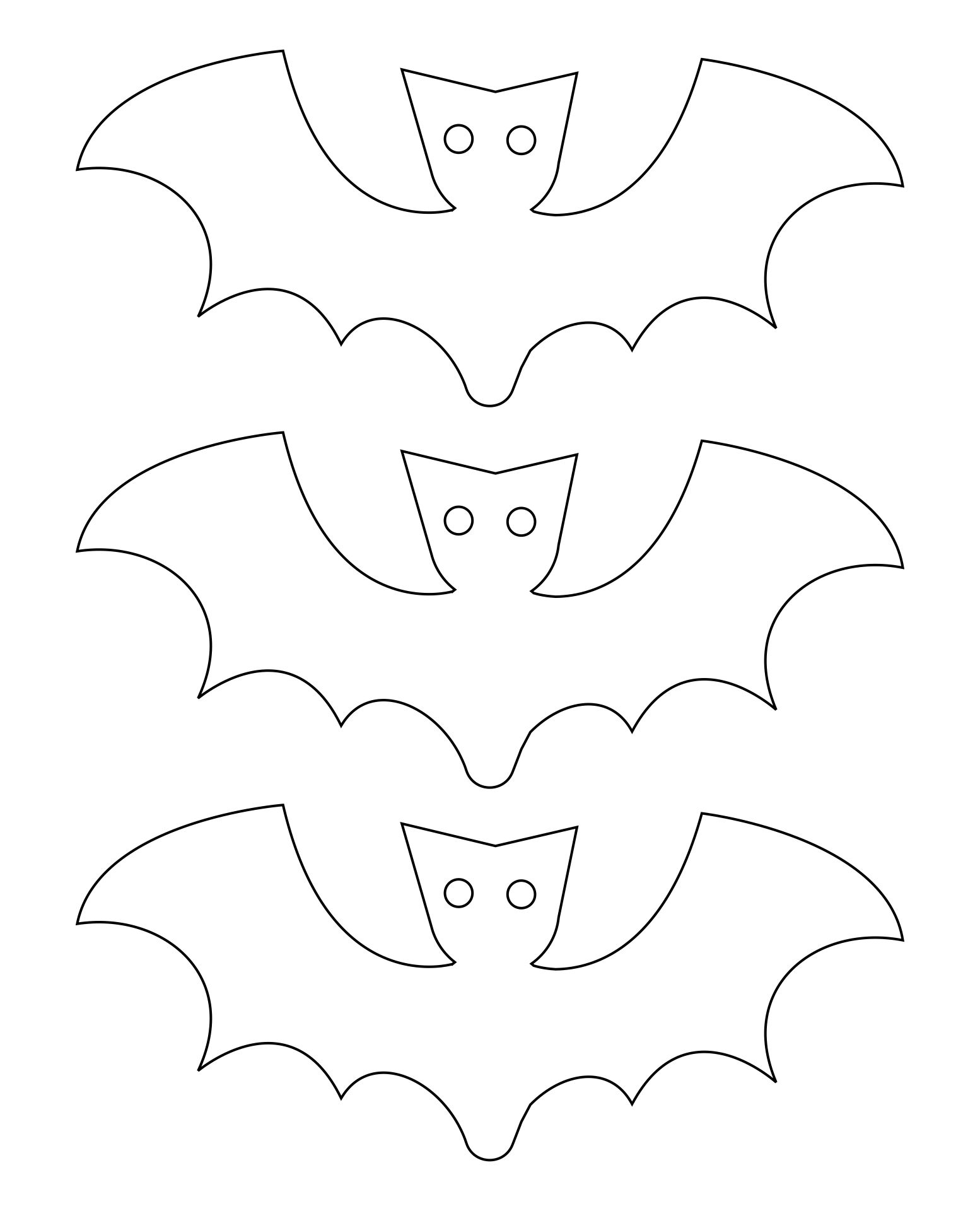 5 Best Images Of Large Printable Bat Templates