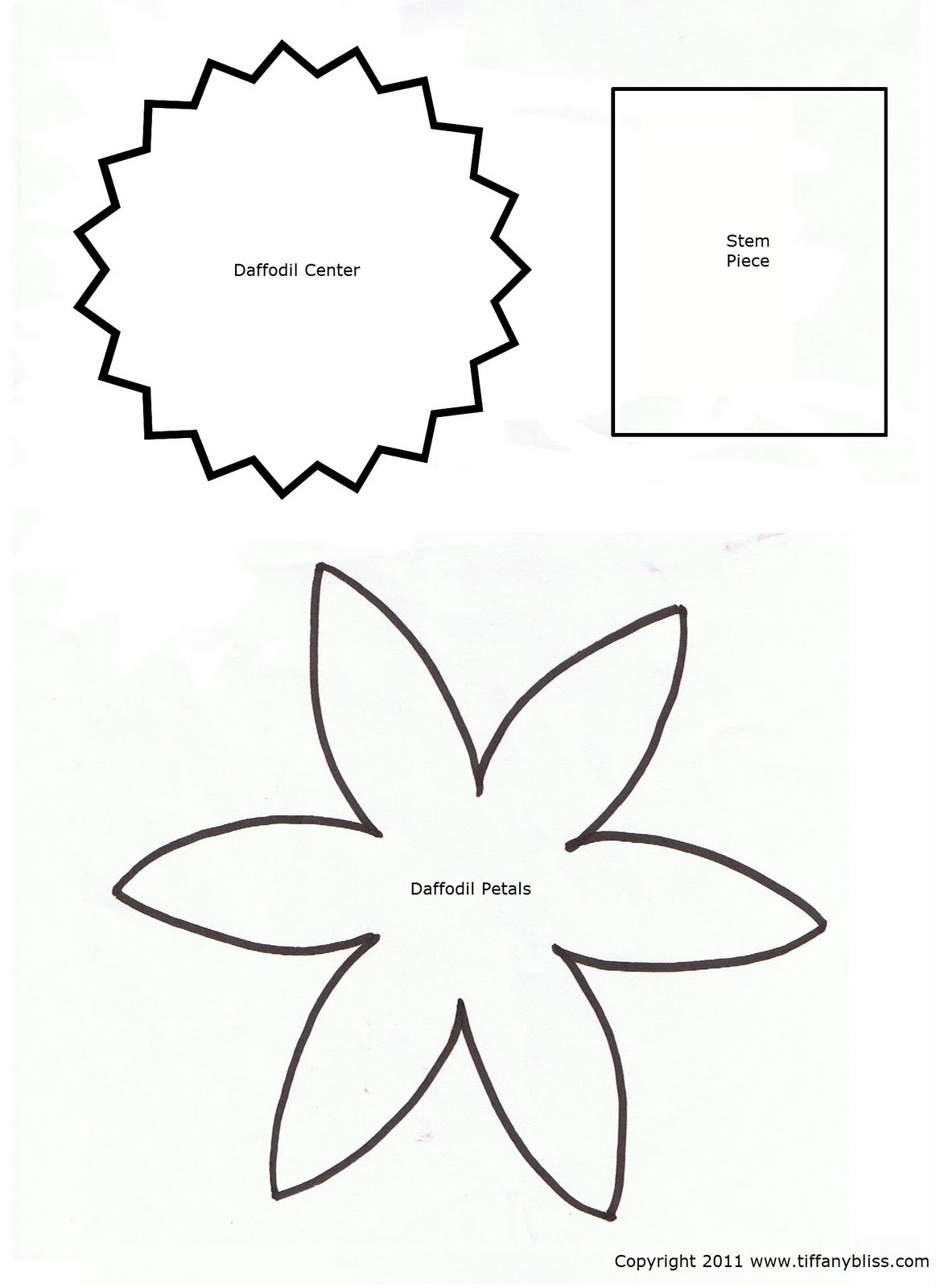 7 Best Images Of Printable Cut Out Flower Patterns