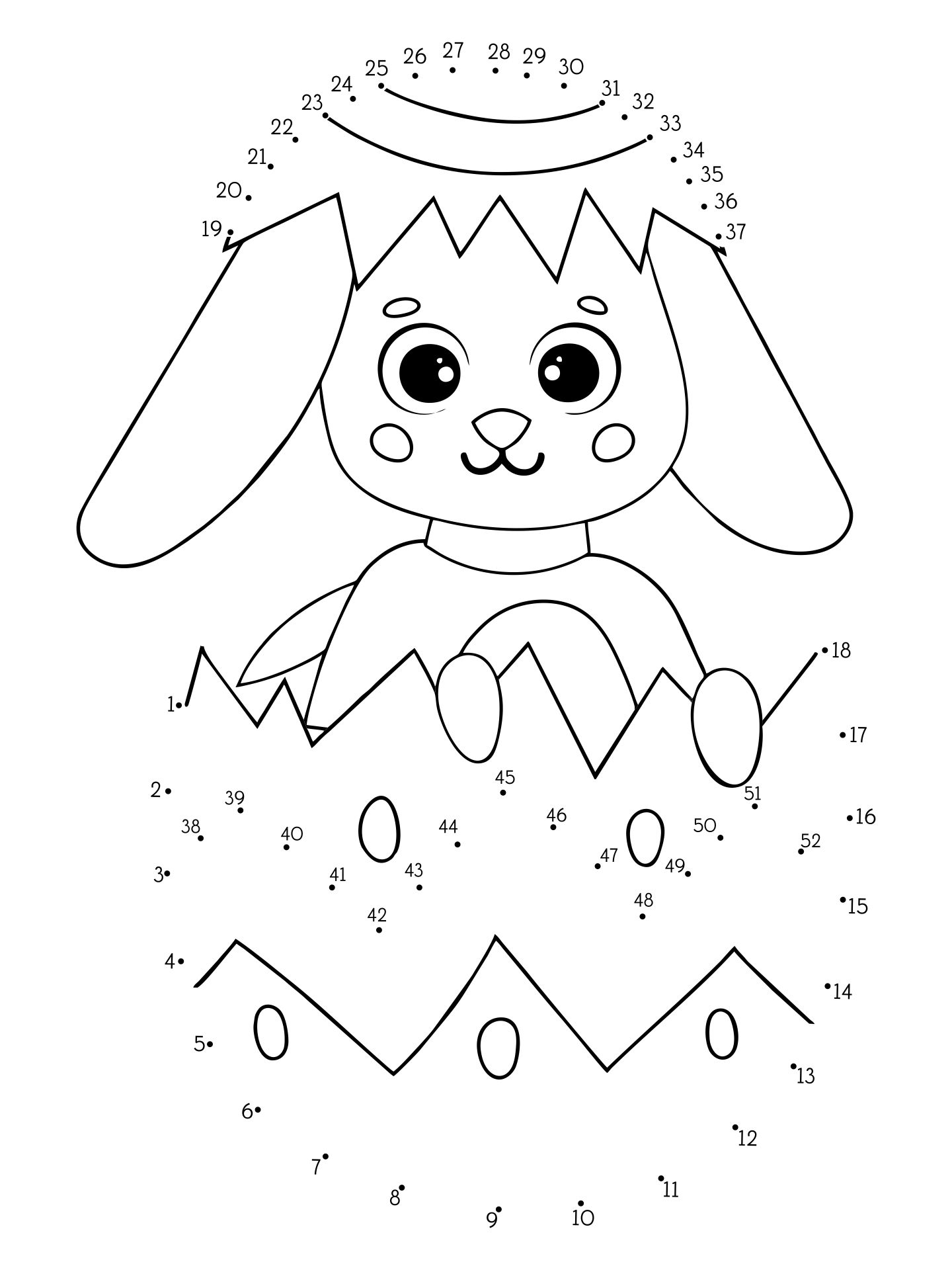 7 Best Images Of Bunny Easter Do A Dot Printables