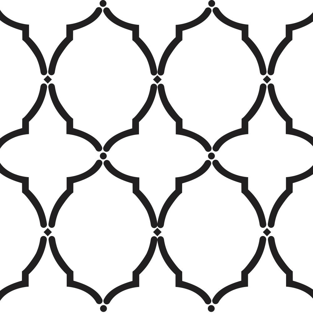 Moroccan Stencil Design Templates