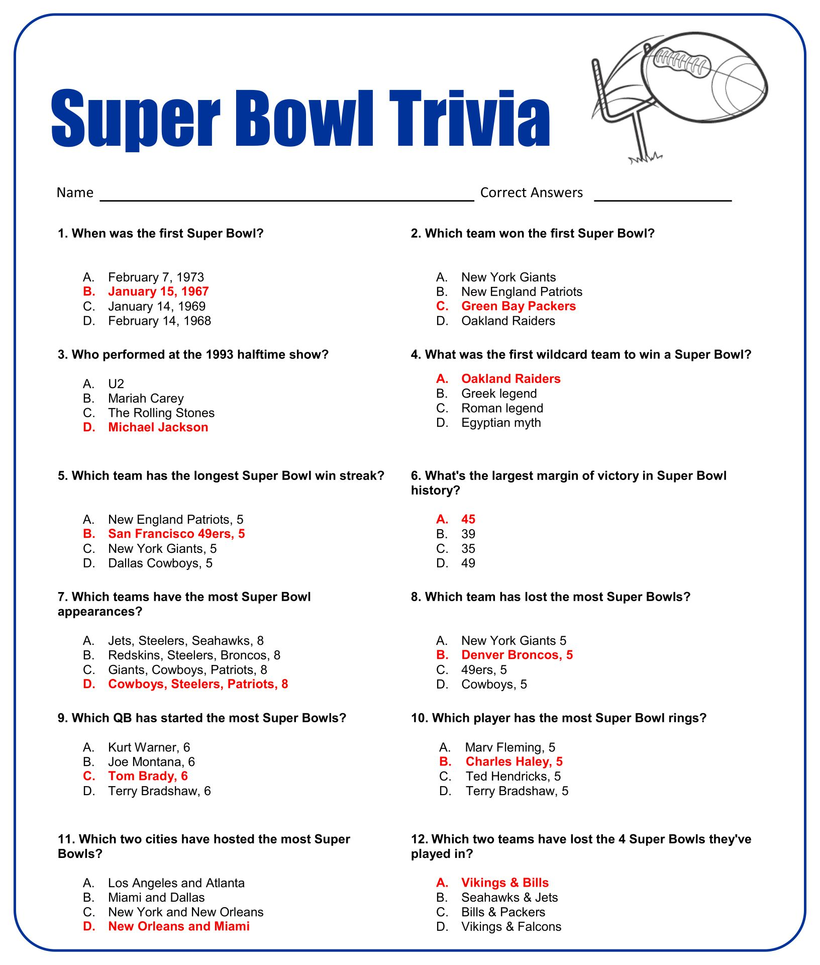 6 Best Images Of Printable Sports Trivia Worksheet