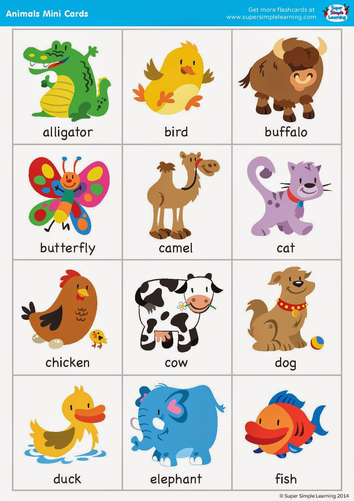5 Best Images Of Printable Zoo Animal Flash Cards